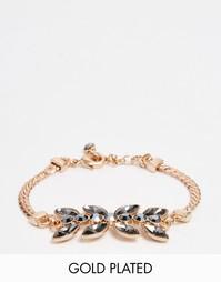 Броский золотисто-розовый браслет с камнями Pilgrim - Золотой