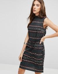 Платье с принтом Blend She Alia - Черный