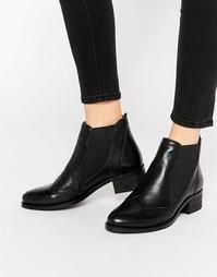 Кожаные ботинки челси с отделкой под броги Park Lane - Черный