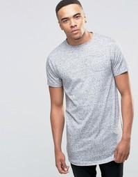 Удлиненная меланжевая футболка D-Struct - Серый