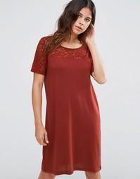 Кружевное платье с короткими рукавами JDY Kimmie - Красный