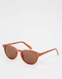 Коричневые солнцезащитные очки в круглой оправе AJ Morgan - Коричневый