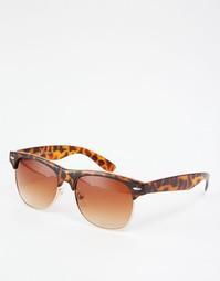 Коричневые солнцезащитные очки в стиле ретро AJ Morgan - Коричневый