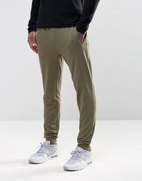 Трикотажные штаны зауженного кроя Troy - Зеленый
