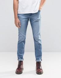 Голубые узкие джинсы Cheap Monday Sonic - Синий