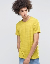 Желтая меланжевая футболка в полоску Cheap Monday - Желтый