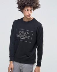 Черный свитшот с логотипом Cheap Monday Rules - Черный