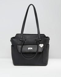 Структурированная сумка-тоут с боковыми вставками Marc B - Черный