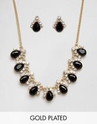 Подарочный набор из ожерелья и сережек Johnny Loves Rosie Sara - Черный