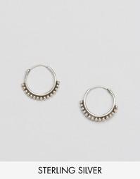 Серебряные серьги‑кольца с шариками Fashionology - Серебряный