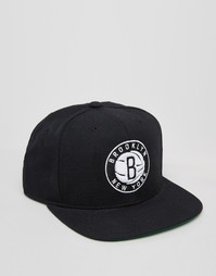 Бейсболка Mitchell & Ness Brooklyn Nets - Черный