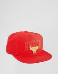 Бейсболка Mitchell & Ness Lux Chicago Bulls - Красный