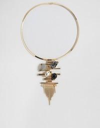 Ожерелье-воротник с камнями на подвеске Nylon - Золотой