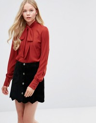 Блузка с завязкой у шеи Alter - Рыжий
