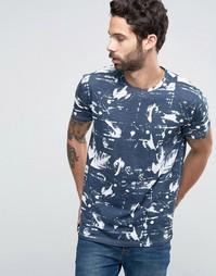 SOLID All Over Print T-shirt - Темно-синий !Solid
