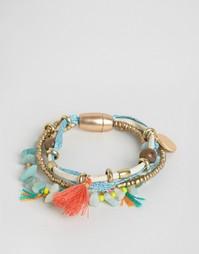 Набор фестивальных браслетов с бусинами и кисточками Nylon - Мульти