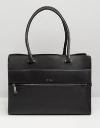 Кожаная сумка-тоут на жесткой основе Modalu - Черный