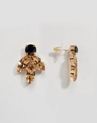 Серьги с кристаллами Swarovski Krystal - Черный
