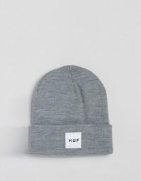 Шапка-бини с логотипом HUF - Серый