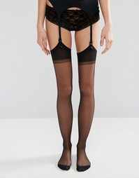Jonathan Aston Seduction Set Stockings and Suspender - Черный