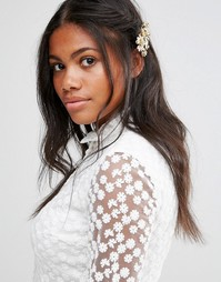 Заколка для волос с цветочным дизайном Cara NY - Золотой
