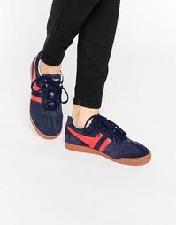 Красно-синие классические кроссовки Gola Harrier - Темно-синий