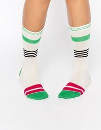 Носки в полоску Jonathan Aston - Зеленый