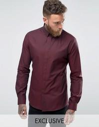Рубашка зауженного кроя с узором гусиная лапка Noose and Monkey - Красный