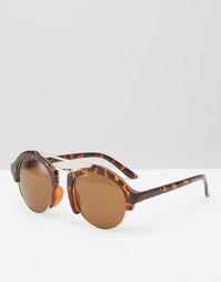 Круглые солнцезащитные очки AJ Morgan - Коричневый