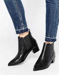 Кожаные ботинки челси с заклепками Office Amber - Черный
