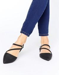 Туфли с острым носком и ремешком Call It Spring - Черный