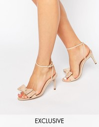 Office Molly Bow Barely There Mid Heeled Sandals - Бежевый