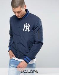 Куртка-пилот Majestic Yankees эксклюзивно для ASOS - Темно-синий