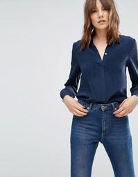 Плиссированная блузка YMC - Синий