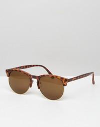 Солнцезащитные очки в полуоправе AJ Morgan - Коричневый