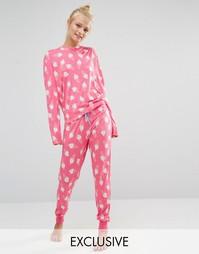 Пижама с принтом мороженое Chelsea Peers - Розовый