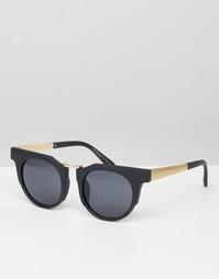 AJ Morgan Round Sunglasses With Chunky Frame - Черный