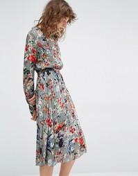 Платье с длинными рукавами и цветочным принтом Essentiel Antwerp Marcher - Мульти