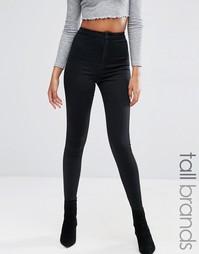 Облегающие джинсы с завышенной талией Missguided Tall Vice - Черный