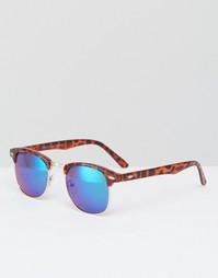 Солнцезащитные очки в стиле ретро 7X - Коричневый