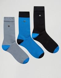 3 пары носков из хлопка и модала с контрастной отделкой Feraud - Синий