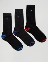 3 пары бирюзовых и бордовых носков из хлопка и модала Feraud - Зеленый