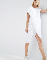 ASOS WHITE Cross Wrap Midi Dress - Белый