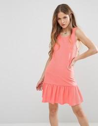 Платье асимметричной длины Madam Rage - Розовый