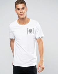 Футболка с логотипом на груди Jack and Jones - Белый