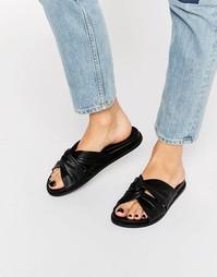 Черные кожаные сандалии Faith Julie - Черный