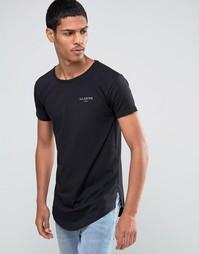 Длинная футболка с небольшим логотипом Illusive London - Черный