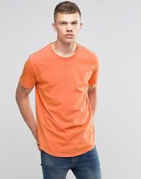 Состаренная футболка Bench - Оранжевый