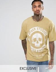 Oversize-футболка Other UK Wolf - Stone