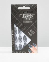 Черные матовые накладные ногти ограниченной серии Elegant Touch After Dark - Черный